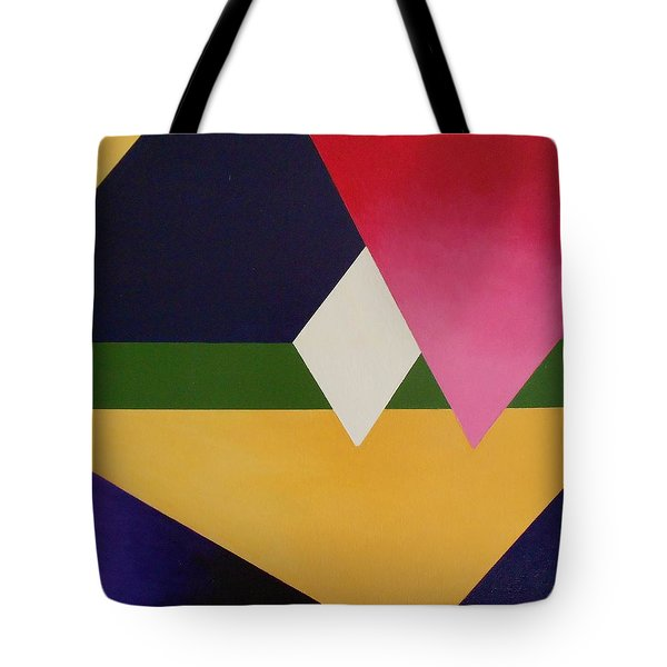 Tote Bag featuring the painting Abstract by Jamie Frier