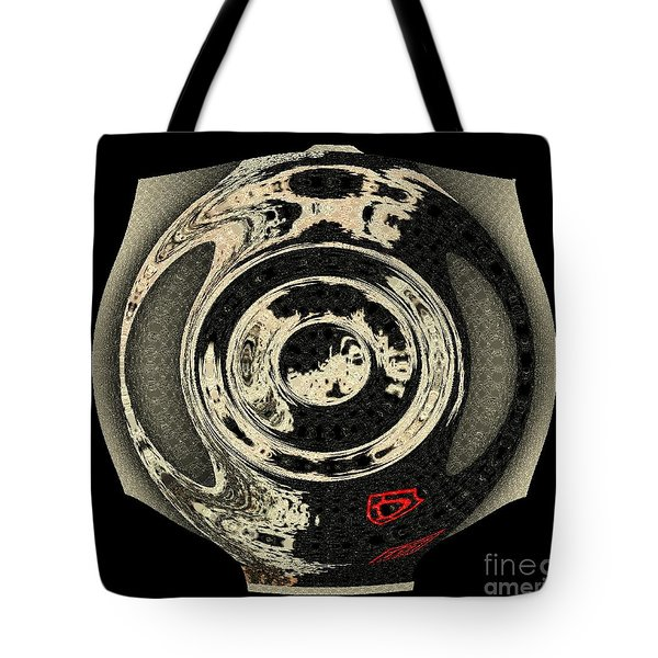 Abstract Japanese Vase Black Tote Bag