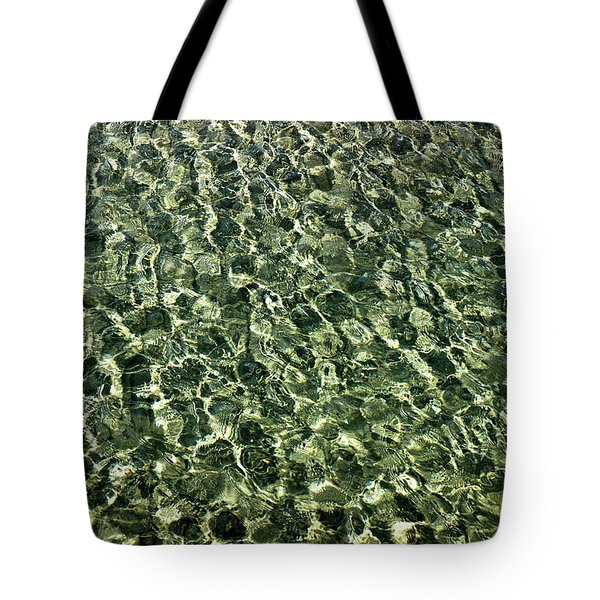 Tote Bag featuring the photograph Abstract Lake Reflections by LeeAnn McLaneGoetz McLaneGoetzStudioLLCcom