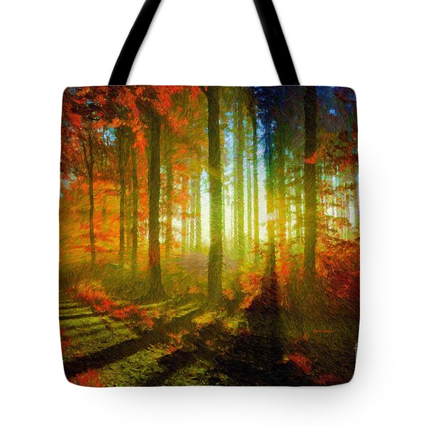 Abstract Landscape 0745 Tote Bag
