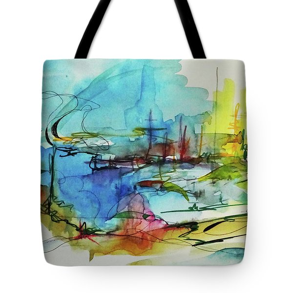 Abstract Landscape #1 Tote Bag