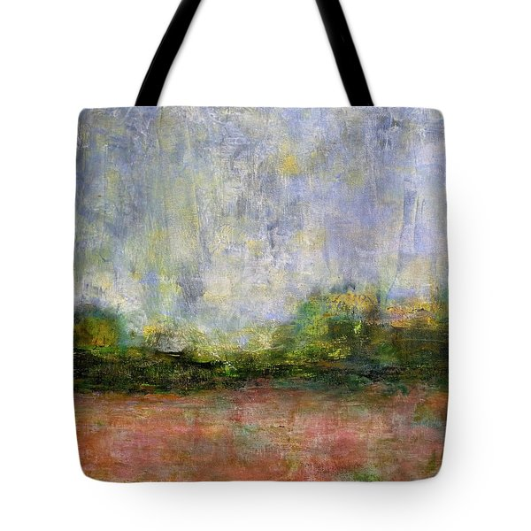 Abstract Landscape #310 - Spring Rain Tote Bag