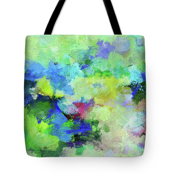 Tote Bag featuring the painting Abstract Landscape Painting by Ayse Deniz
