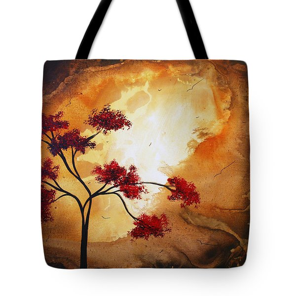 Abstract Landscape Painting Empty Nest 12 By Madart Tote Bag by Megan Duncanson