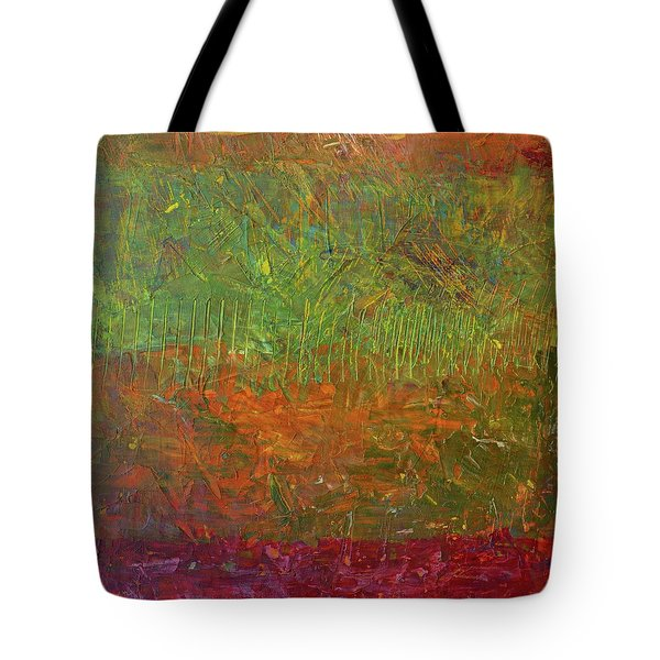 Abstract Landscape Series - Fallen Leaves Tote Bag