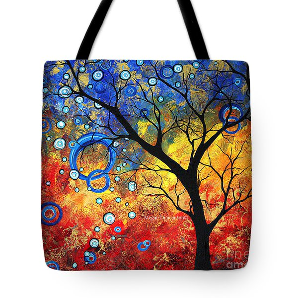 Abstract Landscape Tree Fine Art Prints Renewed Energy By Megan Duncanson Tote Bag