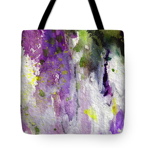 Abstract Lavender Cascades Tote Bag