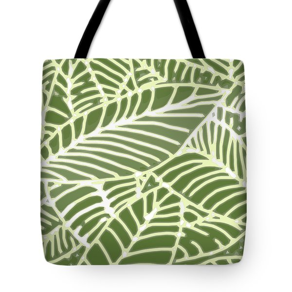 Abstract Leaves Fern Green Tote Bag