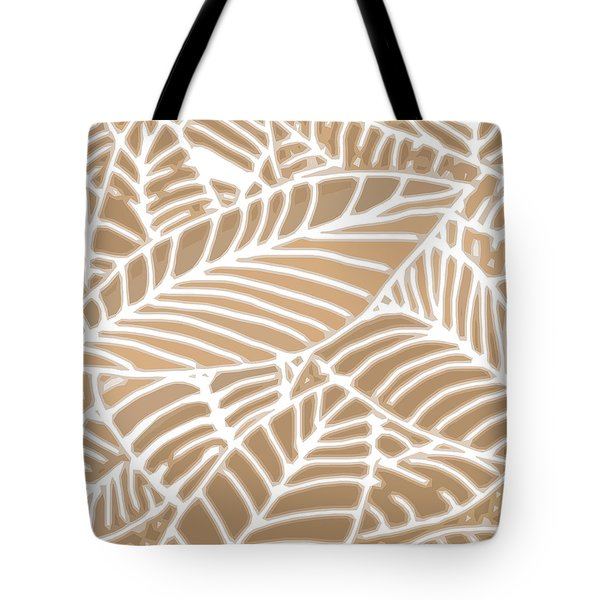 Abstract Leaves Iced Coffee Cutout Tote Bag