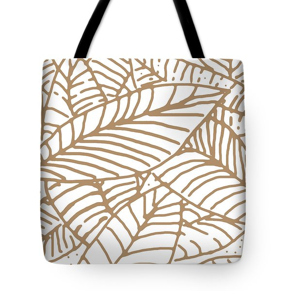 Abstract Leaves Iced Coffee Tote Bag