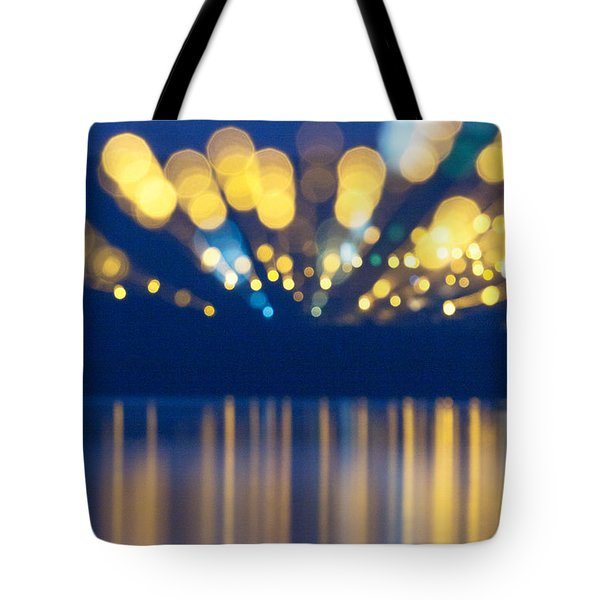 Abstract Light Texture With Mirroring Effect Tote Bag