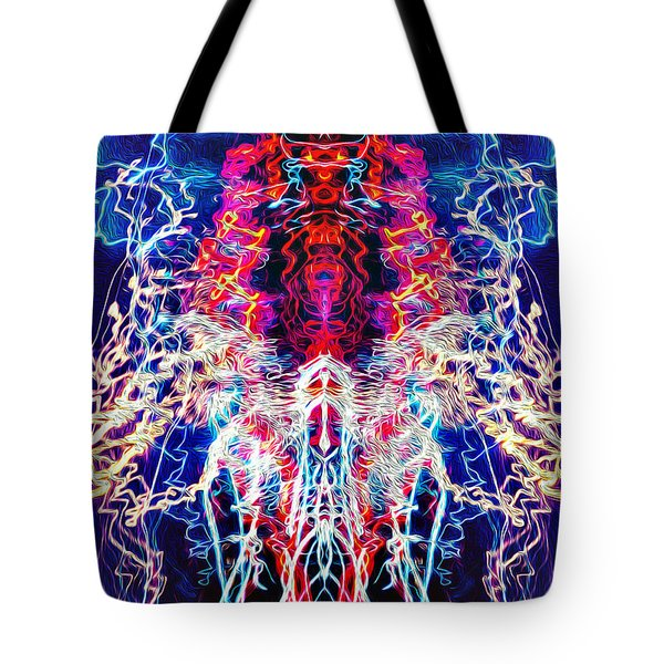 Abstract Lightpainting Oil Style Unique Poster Image Tote Bag