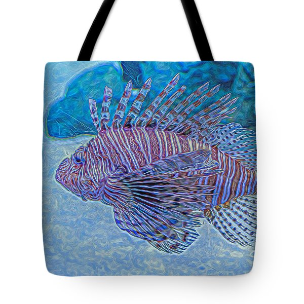 Abstract Lionfish Tote Bag