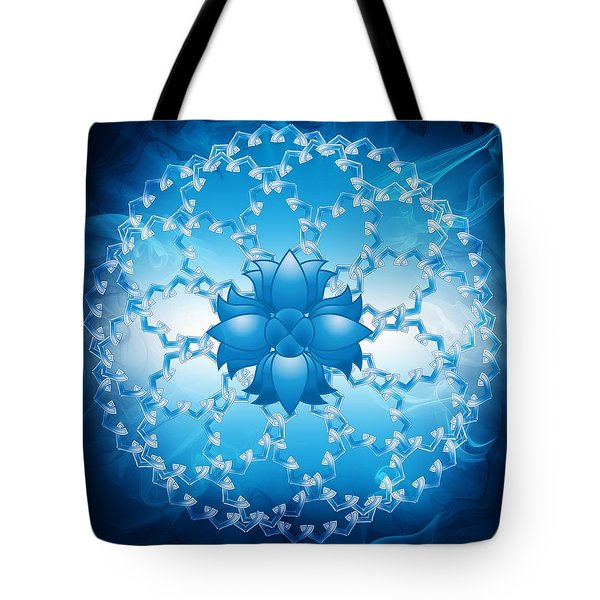 Abstract Lotus Flower Symbol Tote Bag