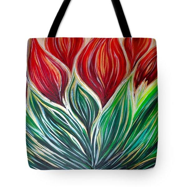 Abstract Lotus Tote Bag