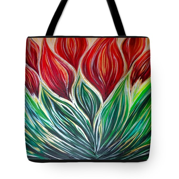 Abstract Lotus Tote Bag