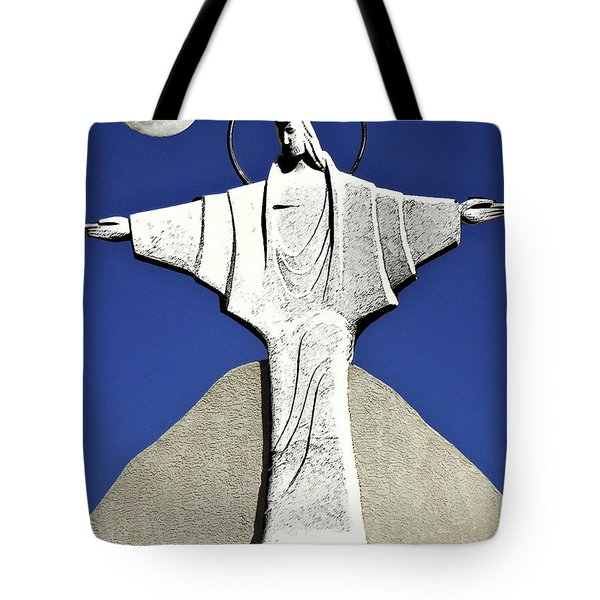 Abstract Lutheran Cross 5 Tote Bag by Bruce Iorio