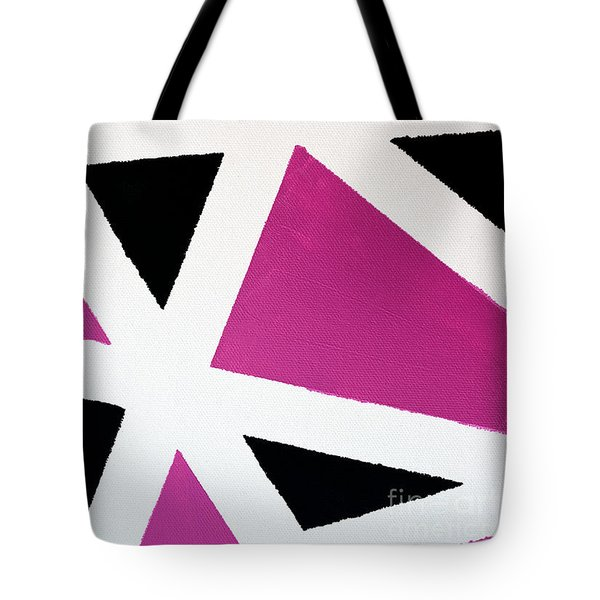 Tote Bag featuring the painting Abstract M1015bp by Mas Art Studio