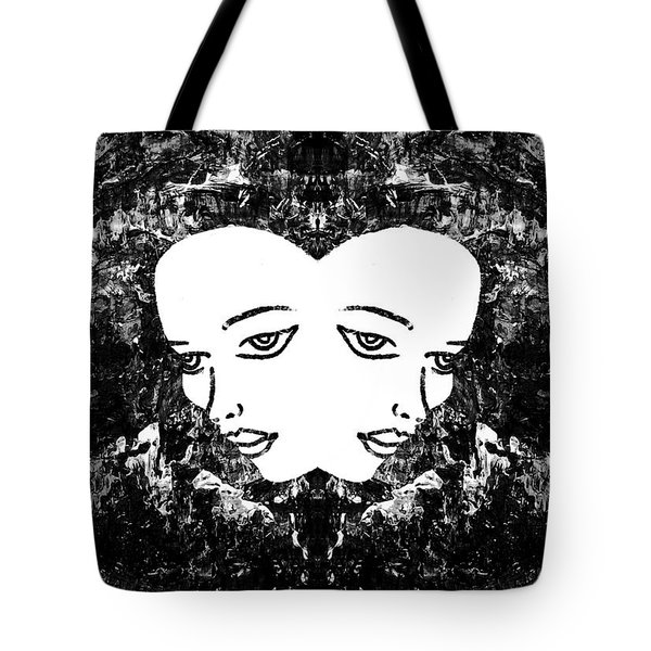 Tote Bag featuring the painting Abstract Majestic Lady 41115  by Mas Art Studio