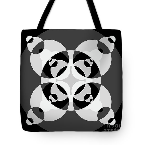 Abstract Mandala Black, Gray And White Pattern For Home Decoration Tote Bag