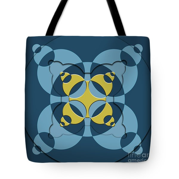 Abstract Mandala Blue, Dark Blue And Green Pattern For Home Decoration Tote Bag