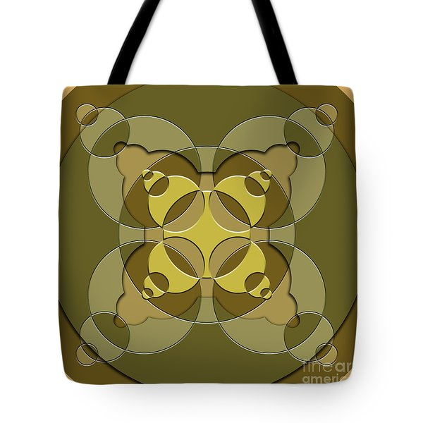 Abstract Mandala Green, Dark Green And Brown Pattern For Home Decoration Tote Bag