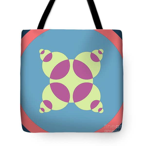 Abstract Mandala Orange, Black And Cyan Pattern For Home Decoration Tote Bag