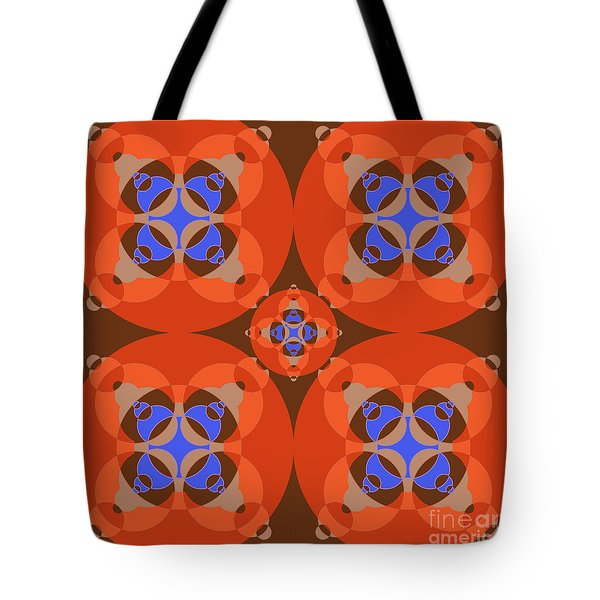 Abstract Mandala Orange, Brown, Blue And Cyan Pattern For Home Decoration Tote Bag