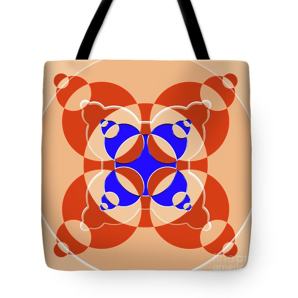 Abstract Mandala Pink, Orange And Blue Pattern For Home Decoration Tote Bag