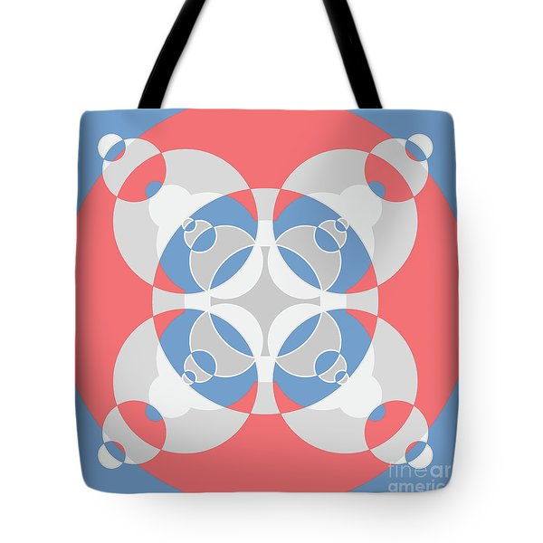 Abstract Mandala White, Pink And Blue Pattern For Home Decoration Tote Bag