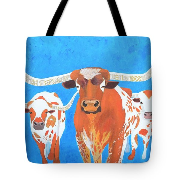 Abstract Mehndi Texas Longhorns Tote Bag
