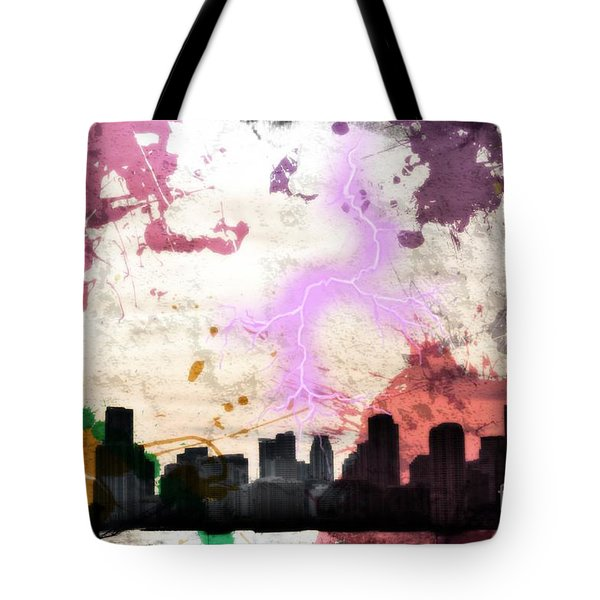 Lightning Strikes  Tote Bag