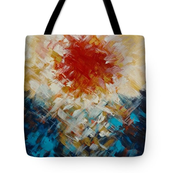 Abstract Blood Moon Tote Bag