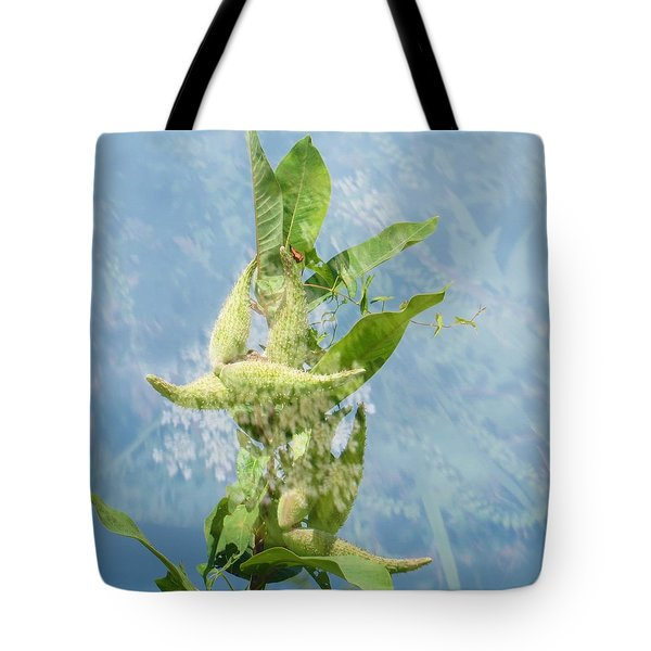 Tote Bag featuring the photograph Abstract Milkweed by Jeanette Oberholtzer