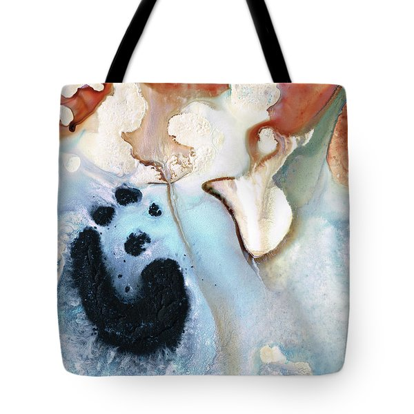 Tote Bag featuring the painting Abstract Modern Art - The Vessel - Sharon Cummings by Sharon Cummings