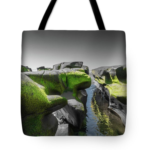 Abstract Mood Selective Color Tote Bag by Scott Campbell