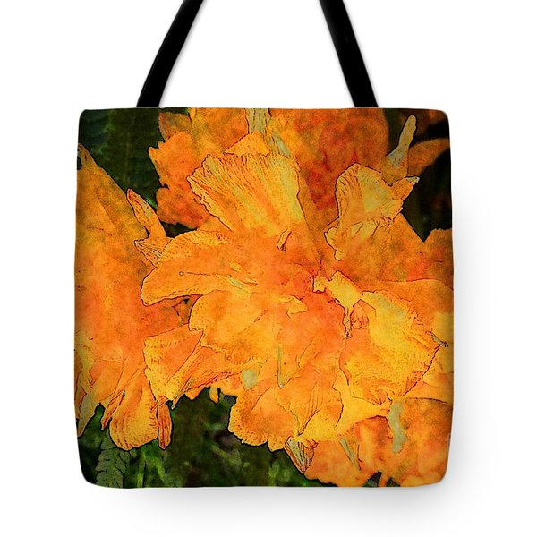 Abstract Motif By Yellow Daffodils Tote Bag by Jean Bernard Roussilhe