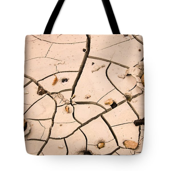 Abstract Mud Flat Pink Saturated Tote Bag