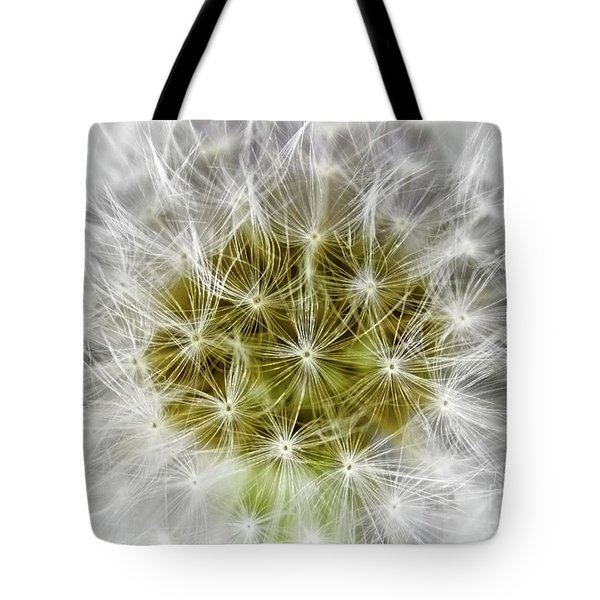 Abstract Nature Dandelion Floral Maro White And Yellow A1 Tote Bag