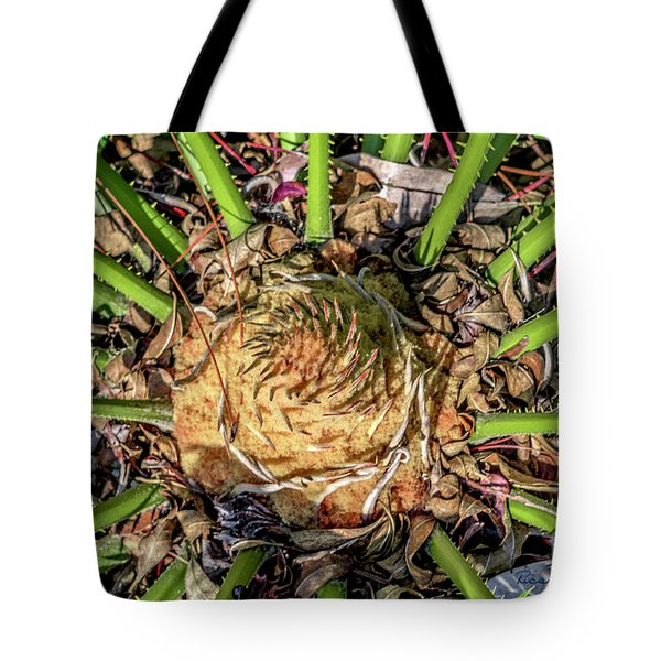 Abstract Nature Tropical Fern 2096 Tote Bag