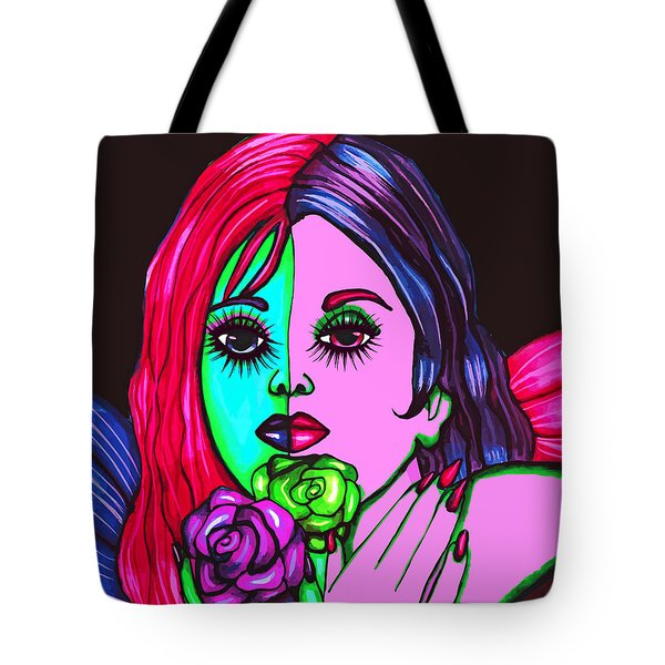 Abstract Neon Rose Fairy Tote Bag