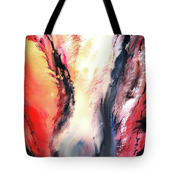 Tote Bag featuring the painting Abstract New by Anil Nene