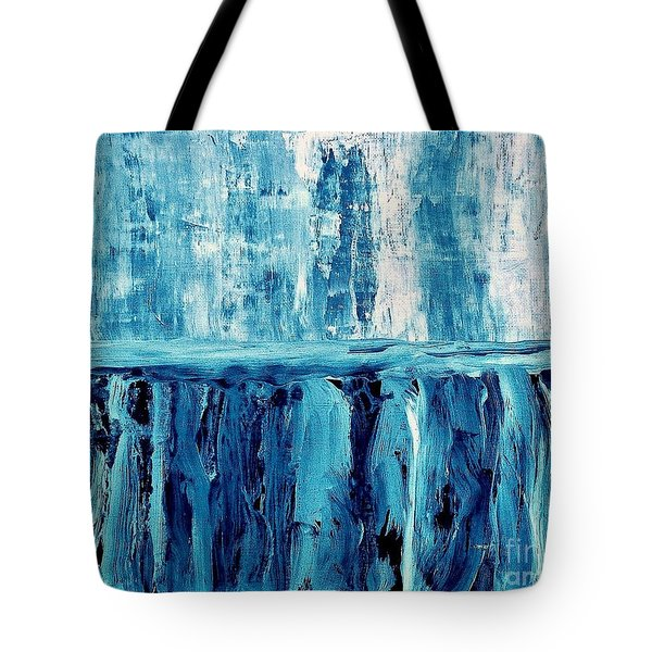 Abstract Niagra Falls Tote Bag