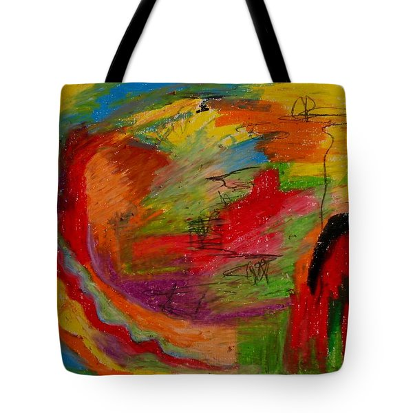 Abstract No. 3 Inner Landscape Tote Bag by Maria  Disley