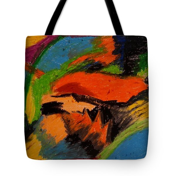 Abstract No. 4 Inner Landscape Tote Bag by Maria  Disley