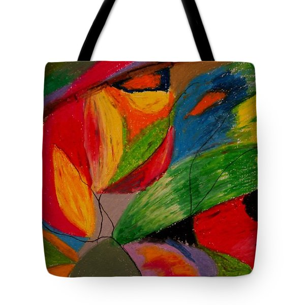 Abstract No. 5 Springtime Tote Bag by Maria  Disley