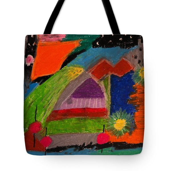 Abstract No. 7 Inner Landscape Tote Bag by Maria  Disley