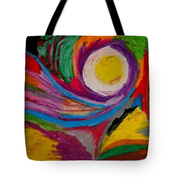 Abstract No.6 Innerlandscape Tote Bag by Maria  Disley