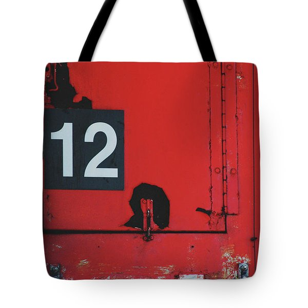 Abstract Number 12 Tote Bag by AdSpice Studios
