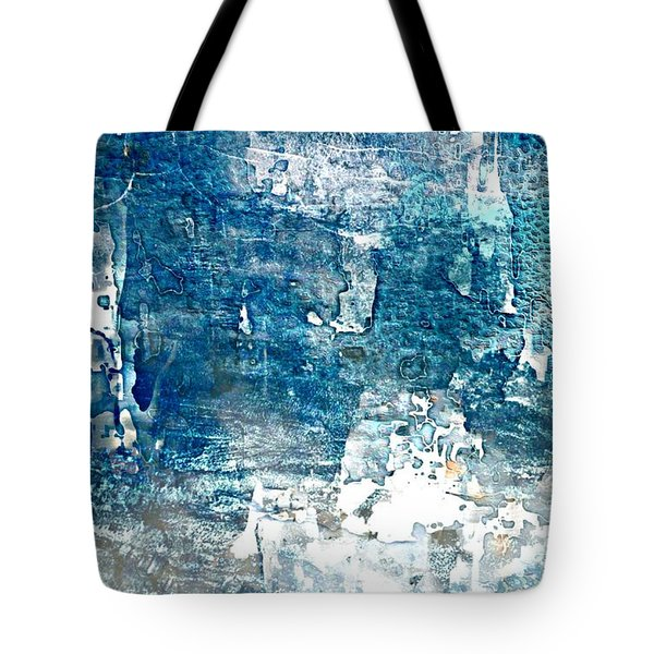 Abstract Ocean Blue Tote Bag by Lynda Payton